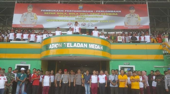 Kapoldasu Buka Resmi Turnamen Olahraga Rakyat se-Sumatera Utara 2019
