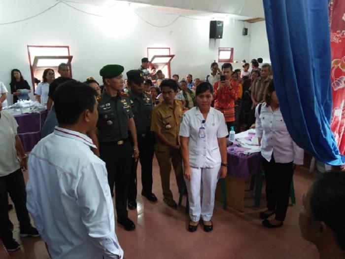 Dandim 0207/Simalungun Hadiri Baksos KB, Berobat Massal dan Pasar Murah di Dusun Mariah Raya
