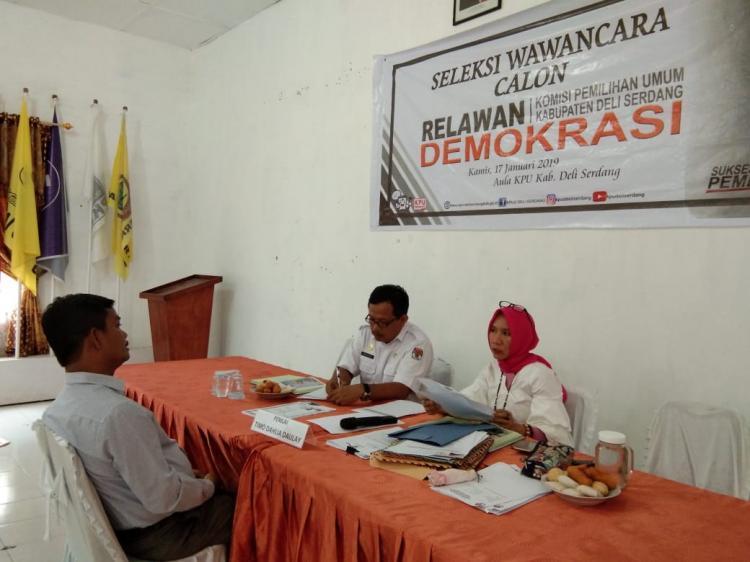 KPU Deli Serdang Seleksi Calon Relawan Demokrasi