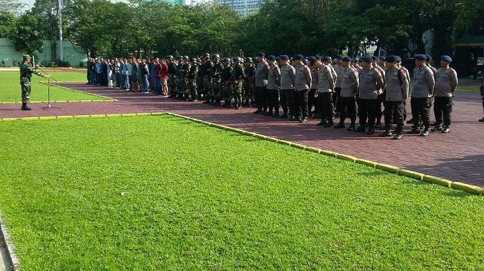 Pam Pileg dan Pilpres 2019, Sebanyak 291 Personel TNI-Polri Lakukan Geladi