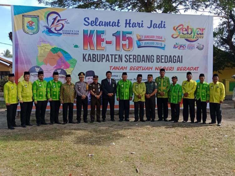 Dandim 0204/DS Hadiri Upacara Hari Jadi Kabupaten Serdang Bedagai