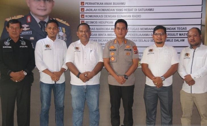 Kapolres Sibolga Jalin Kerjasama dengan PWI Sibolga-Tapteng