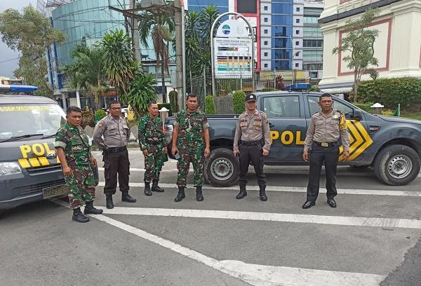 Polsek Medan Baru Bersama Kodim 02/01/BS Gelar Patroli Gabungan
