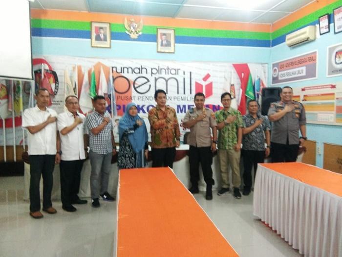 Jelang Pilkada, Polrestabes Medan Jalin Koordinasi dengan KPU Kota Medan