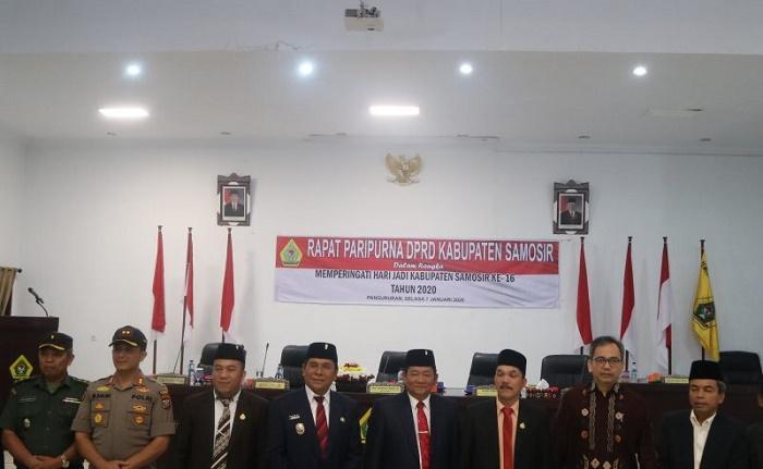 DPRD Gelar Rapat Paripurna Peringati Hari Jadi Kabupaten Samosir ke-16