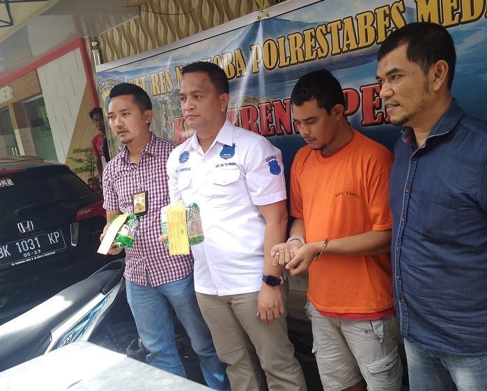 Pengedar Sabu Internasional Ditangkap Polisi di Jalan Juanda Medan