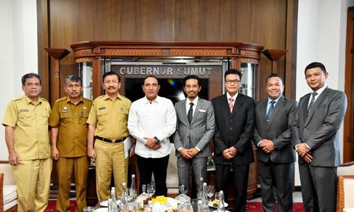 Silaturahmi Bersama Konjen Malaysia, Gubernur Sumut Berharap Tingkatkan Pengawasan TKI Ilegal
