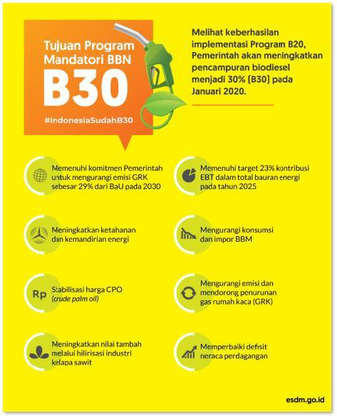 Diimplementasikan Mulai 1 Januari 2020, Indonesia Negara Pertama di Dunia Terapkan Biodiesel 30 Persen
