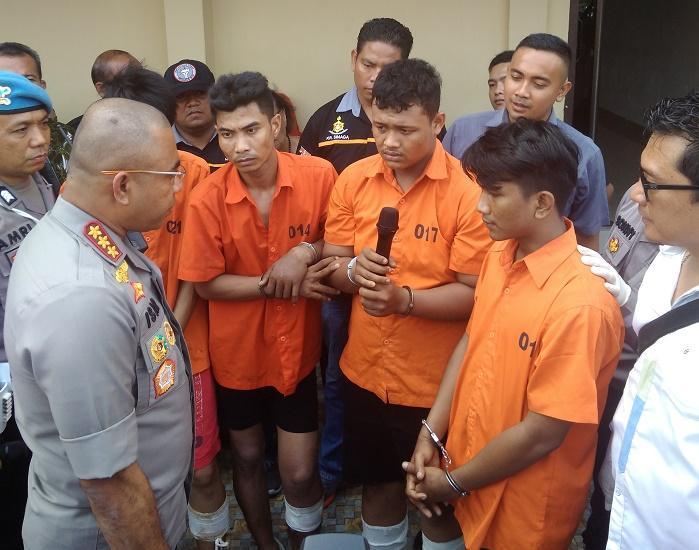 Polsek Medan Baru Berhasil Bongkar Sindikat Jambret di Medan, 4 Pelaku Dihadiahi Timah Panas