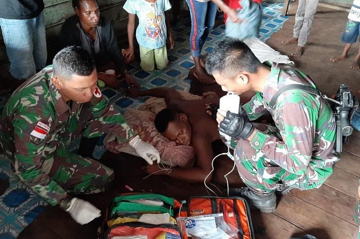 Yonif MR 411/Pdw Kostrad Rawat Siprianus Bennojai, Korban Penusukan di Kampung Kwel Merauke
