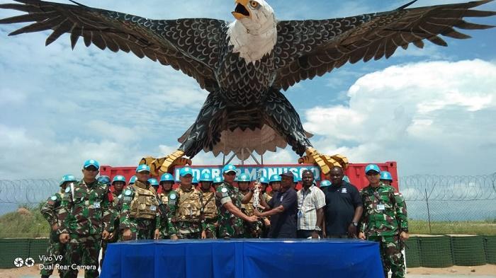 Satgas Garuda di Afrika Kembali Peroleh Senjata dari Masyarakat Lukungwe