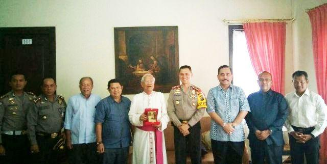 Kapolrestabes Medan Silaturahmi ke Kantor Keuskupan Agung Medan