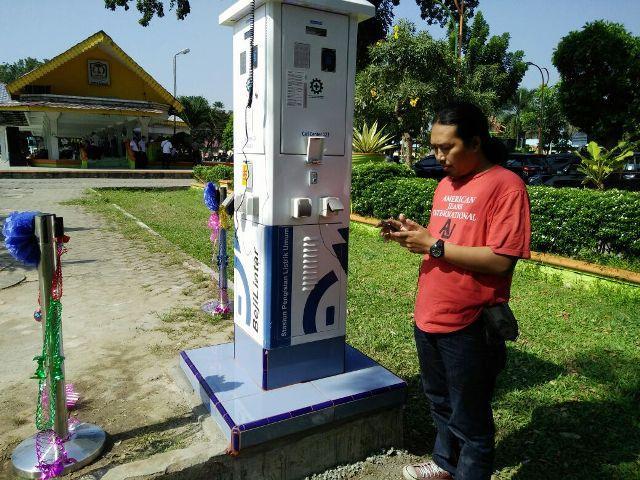 PLN Resmikan Stasiun Pengisian Listrik Umum di Lapangan Merdeka Kota Binjai