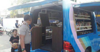 Mobil Perpustakaan milik Pemko Hadir di Lapangan Merdeka
