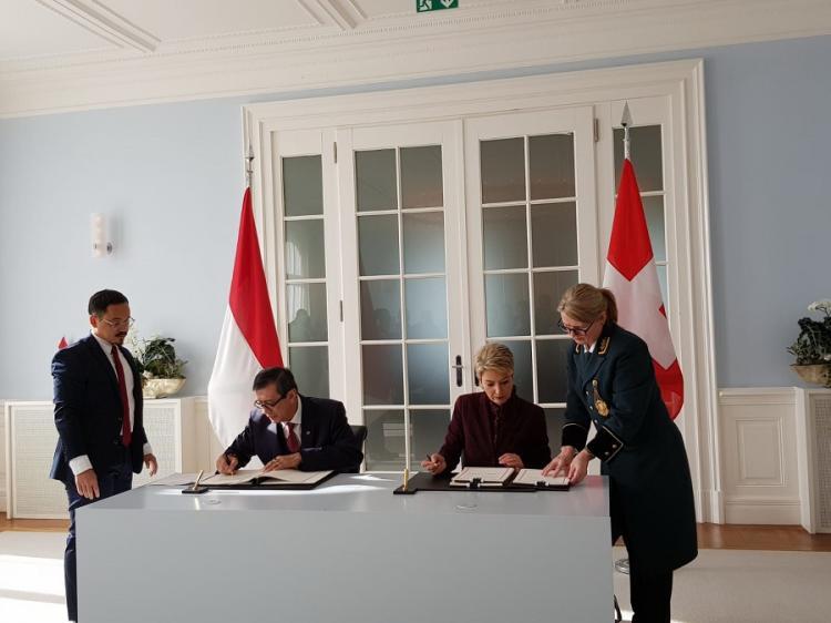 Pemerintah RI dan Swiss Sepakati Perjanjian Bantuan Hukum Timbal Balik dalam Masalah Pidana