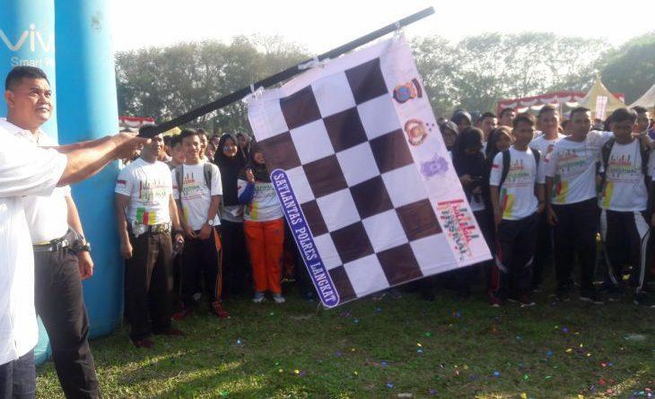 Polres Langkat Gelar Millennial Road Safety Festival, Ratusan Pelajar Sambut Antusias