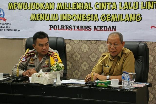 Pemko Medan Dukung Penuh Kegiatan Millenial Road Safety Festival 2019 di Wilayah Polda Sumut