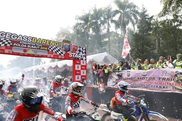 Kapolda Sumut Lepas 2.000-an Rider di Acara NegGas Bareng Komunitas Trail