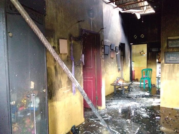 Satu Rumah Hangus Terbakar di Perumahan Meliala Pancurbatu