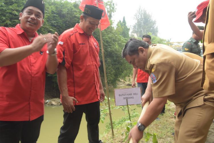 Wakil Bupati Deli Serdang Hadiri Penanaman Pohon Dalam Rangka HUT PDIP