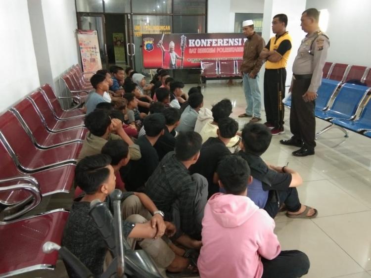 Antisipasi 3C, Polrestabes Medan Amankan 40 Orang Anak di Bawah Umur