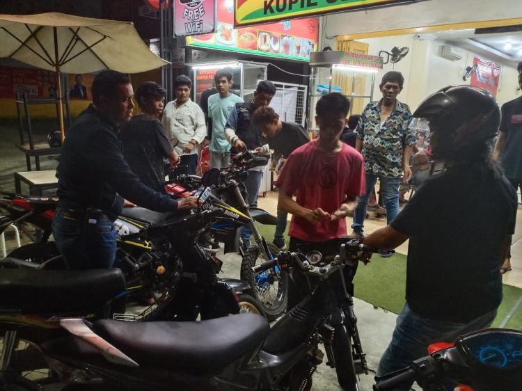 Cegah Begal, Tim Gabungan Polrestabes Medan Patroli di Johor