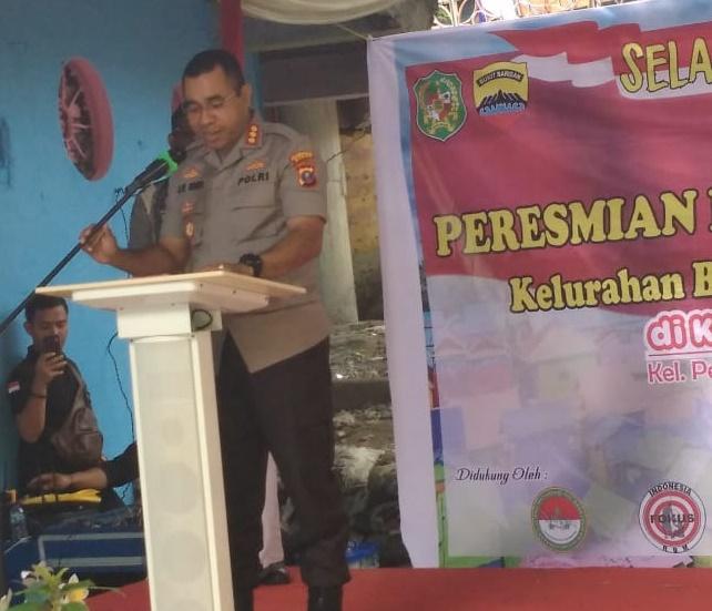 Kombes JE Isir Resmikan Kelurahan Bersinar, Ajak Masyarakat Kota Medan Gotong-Royong Berantas Narkoba
