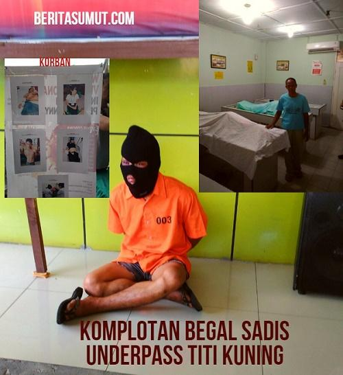 DPO Komplotan Begal Sadis Underpass Titi Kuning Berhasil Ditembak Mati Polsek Medan Baru
