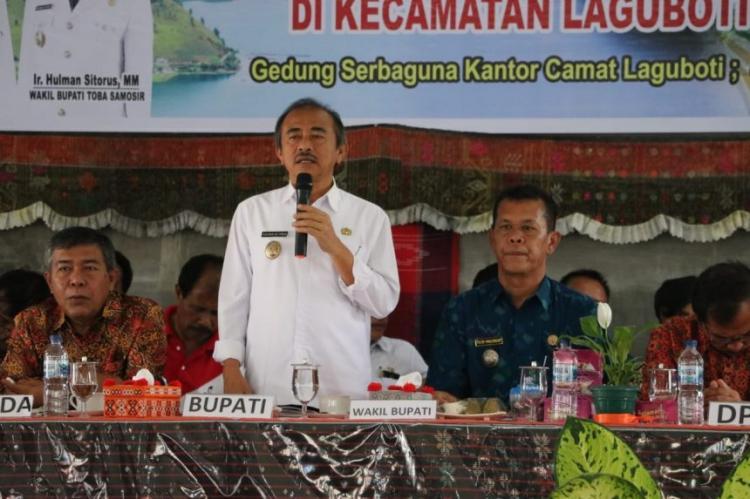 Hulman Sitorus Sebut Tahun 2020 Total Dana Desa di Toba Rp 230 Miliar