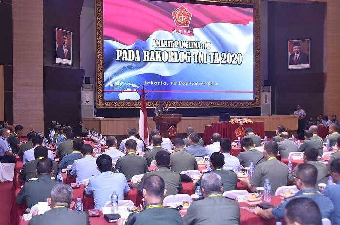 Rakorlog 2020, Panglima TNI Minta Dukungan Logistik Operasi TNI Lebih Optimal