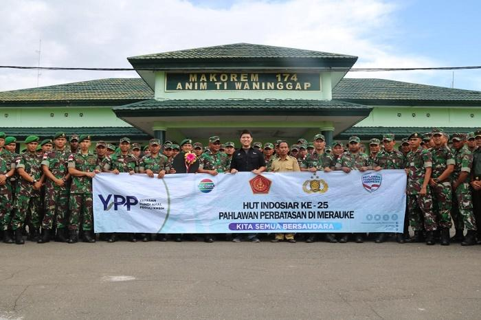 Peduli Pendidikan di Papua, Satgas Yonif MR 411 Kostrad Terima Bantuan Mobil Pintar