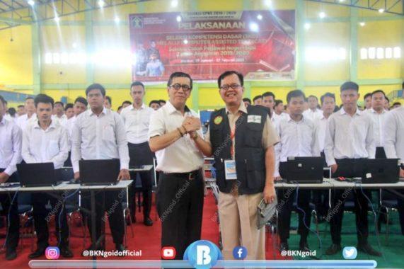 Tinjau Lokasi Ujian SKD CPNS di Medan, Menteri Hukum dan HAM Pastikan Seleksi Berjalan Transparan