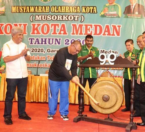 Musorkot KONI Medan 2020 Resmi Dibuka, Ini Pesan Plt Wali Kota