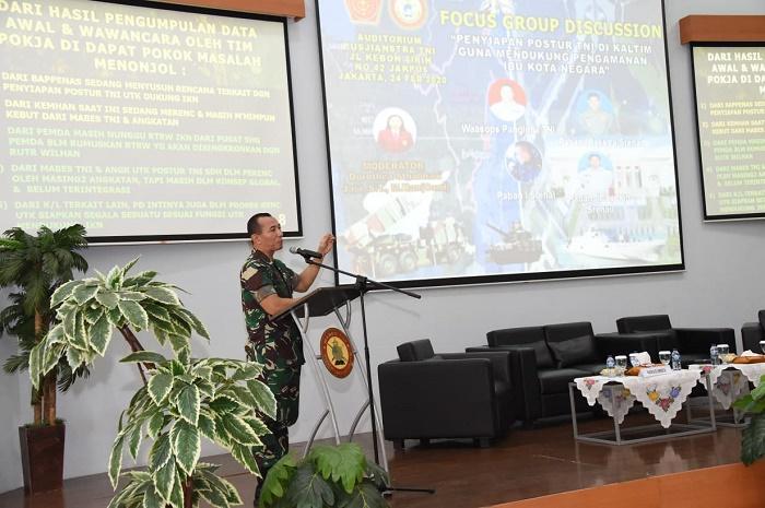 Kapusjianstra TNI Buka FGD Penyiapan Postur TNI di Ibu Kota Baru Kalimantan Timur