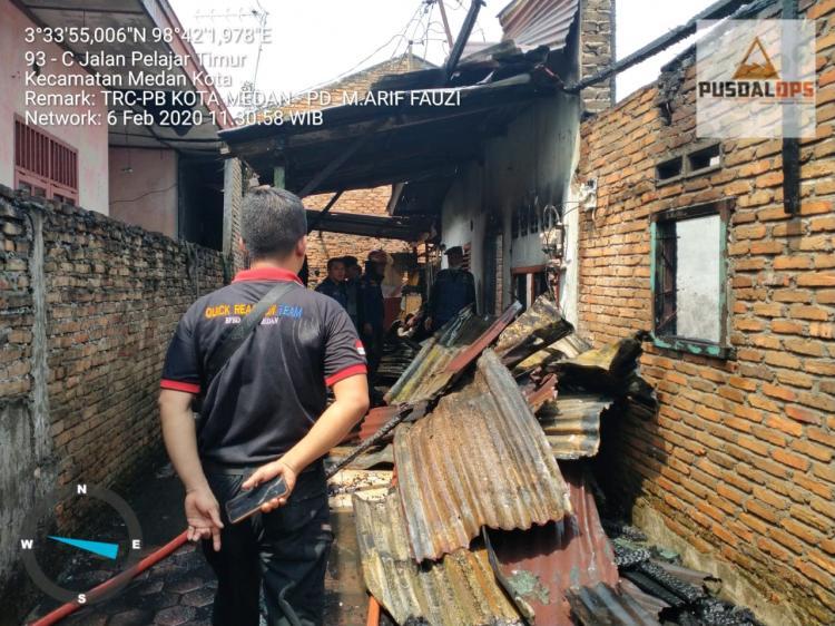 Dua Rumah di Jalan Pelajar Terbakar