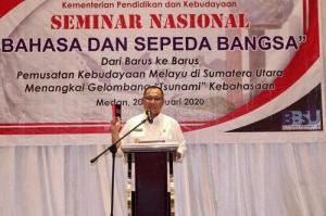 Plt Wali Kota Medan Apresiasi Seminar Balai Bahasa Sumut, Bertema Bahasa dan Sepeda Bangsa