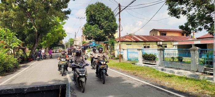 Patroli Gabungan Polsek Medan Area Gandeng Petugas Koramil 03 Medan Denai