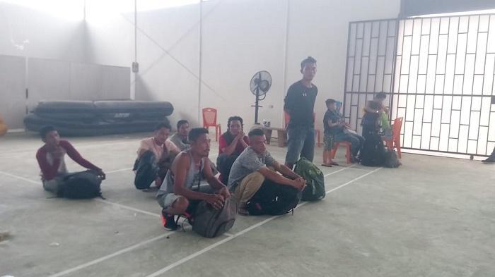 Polres Tanjung Balai Amankan 20 TKI Ilegal, 2 Orang Kedapatan Bawa 2 Kg Sabu