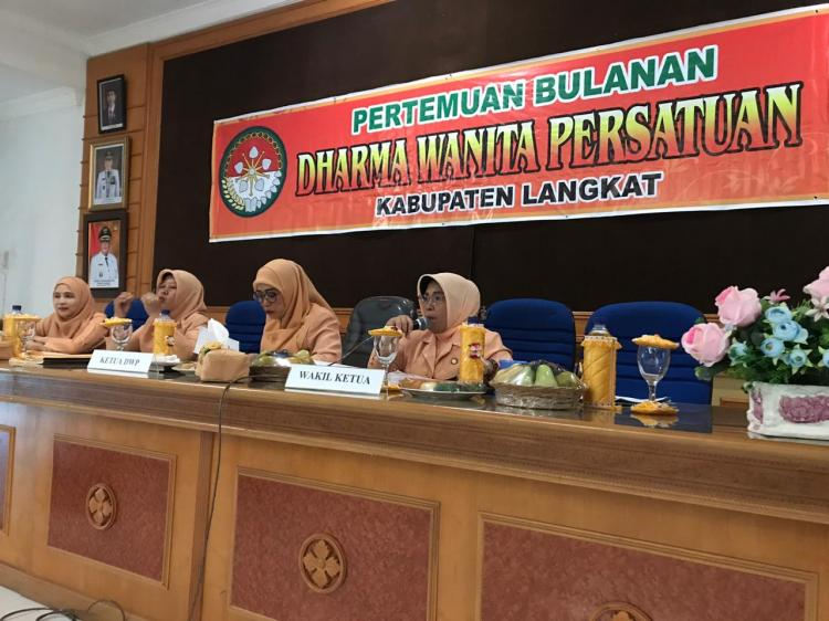 DWP Langkat Melaksanakan Pertemuan Bulanan