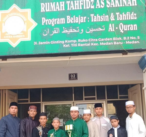 Santri Rumah Tahfidz As Sakinah Juarai Hifzil Qur'an 30 Juz MTQ Sergai