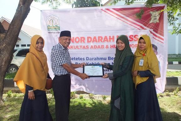 Peduli dengan Sesama, FAH UIN Ar-Raniry Kumpulkan 38 Kantong Darah