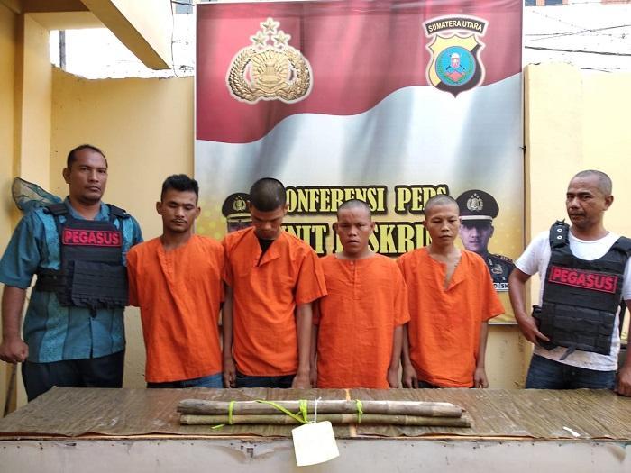 4 Pelaku Penyerangan Loket KBT Amplas Diringkus Polsek Patumbak