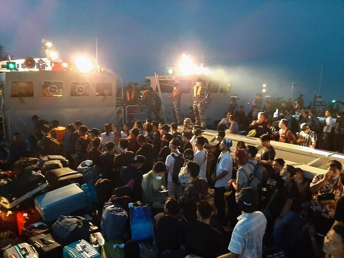 Evakuasi 188 WNI Pulau Sebaru ke KRI Semarang 594, Ini Kata Pangkogabwilhan I