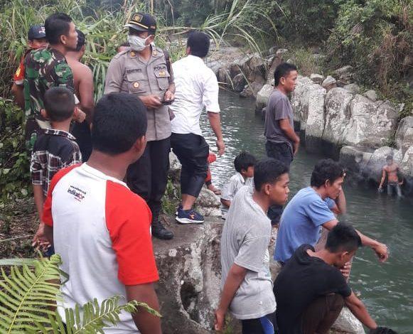 Hanyut di Sungai Buaya, Polsek Bangun Purba dan Tim Basarnas Berupaya Temukan Korban