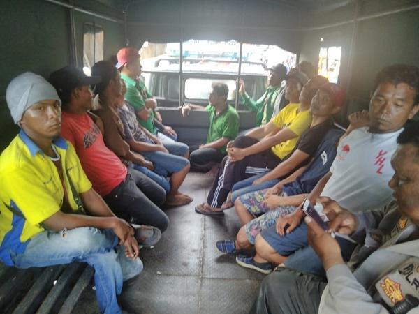 Polrestabes Medan Amankan 18 Preman dari Terminal Amplas dan Jalan TB Simatupang