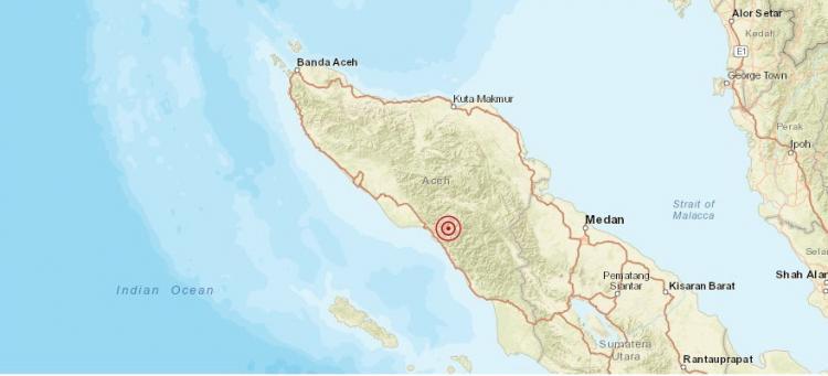 Gempa Magnitudo 5.3 Guncang Aceh Selatan
