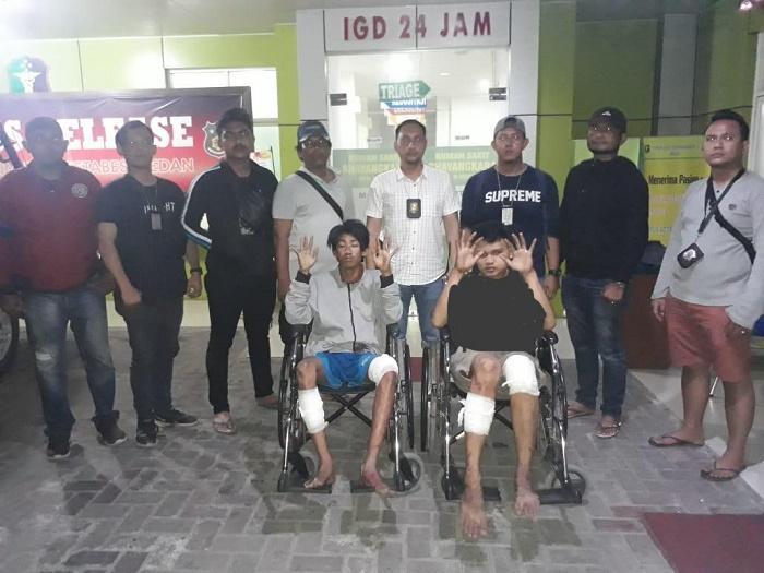Polsek Helvetia Tembak Dua Komplotan Jambret, Sudah 10 Kali Beraksi