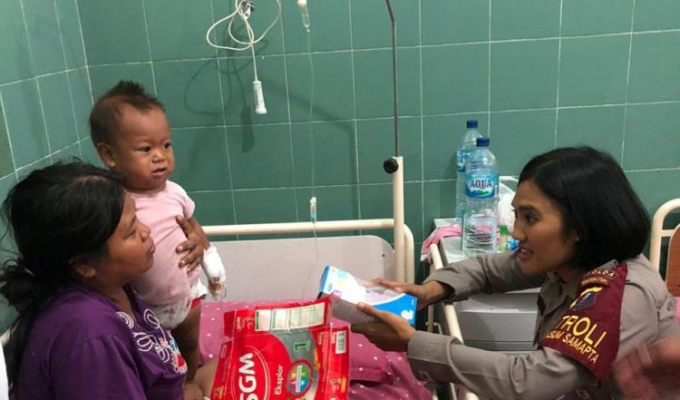 Kapolda Sumut Bantu Pengobatan Latif, Bayi Penderita Kelenjar Getah Bening