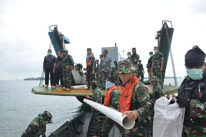 Pangkogasgabpad Cek Sarana dan Prasarana 69 WNI Diamond Princess di Pulau Sebaru Kecil