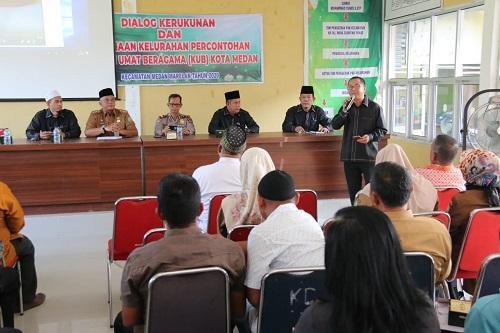 Plt Wali Kota Medan Buka Dialog Kerukunan dan Pembinaan Kelurahan Percontohan KUB di Marelan